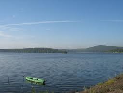 Волчихинское водохранилище на ж/д станции Флюс