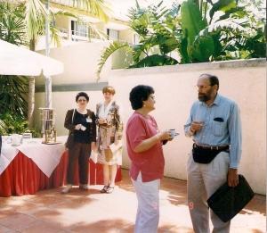 1999г. Израиль семинар в перерыве с Минеевой Н. из С-Петербурга